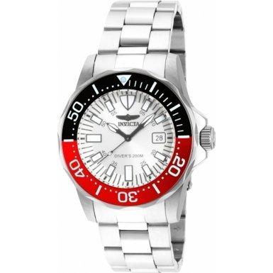 Invicta Men's Pro Diver 43mm Steel Bracelet & Case Quartz White Dial Analog Watch 15029