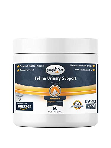 Jungle Pet Feline Urinary Support - Tuna Flavored - Made for Cats - for Bladder Muscle Function - Great TASTING