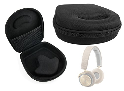 DURAGADGET Hard 'Shell' EVA Headphone Case (Black) with Internal Netted Accessories Pocket for the NEW Bang & Olufsen BeoPlay H8 Headphones