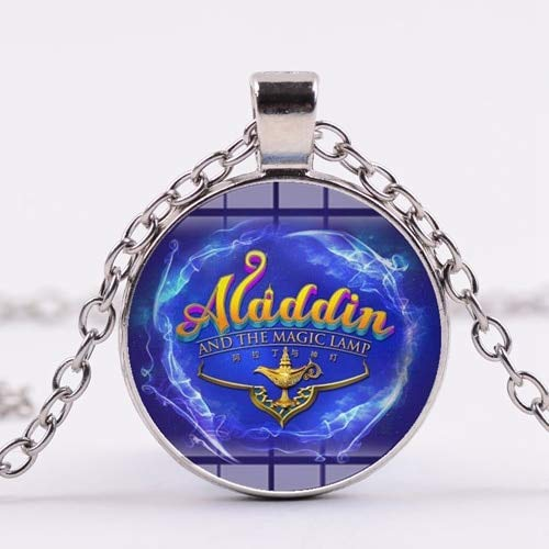 c77db1f660f16 Pendant Necklaces - SONGDA Cartoon Aladdin Jasmine Princess Necklace Magic  Lamp Magician Arabian Nights Handmade Crystal Pendant Party Gift Jewelry -  ...