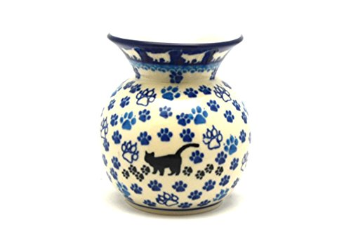 Polish Pottery Vase - Round with 2