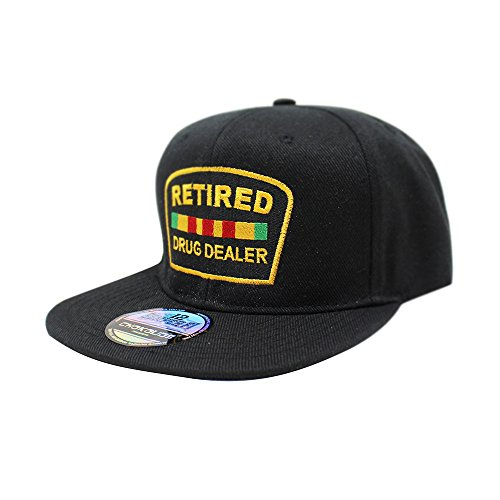(Retired Drug Dealer Hat Dad Hat Cotton Baseball Cap Polo Style Low Profile 5 Colors (SB Black))