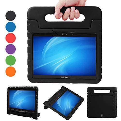 Kids Case for Samsung Galaxy Tab S 10.5-inch Shockproof Lightweight Adjustable Portable Drop Protection EVA Tablet Shell Cover, Case for Samsung Galaxy Tab S 10.5(SM-T800/SM-T805)-Purple (Black)