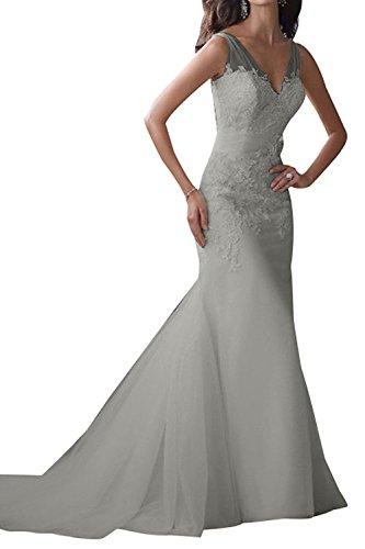 Hochzeitskleider La Traumhaft Festlichkleider Silber Brautkleider Langes Abendkleider Partykleider Ballkleider Etuikleider mia Braut qqrwEpv