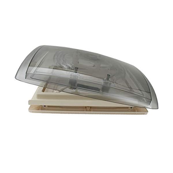 417yb MPK VisionVent M getönte Klarglas Dachluke Dachfenster Dachhaube 40 x 40 mit Rollo und Netz