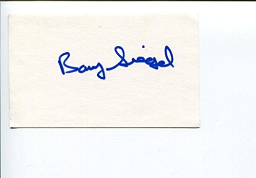Barry Siegel Los Angeles Times Journalist Pulitzer Prize Author Signed Autograph