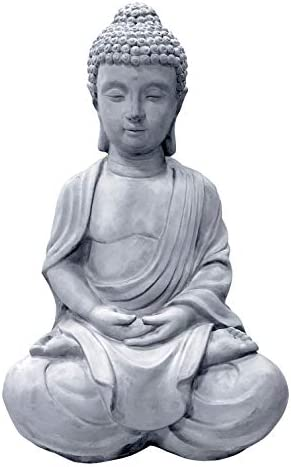 Kante R141006-C80021 Lightweight Sitting Meditating Buddha Zen Indoor Outdoor Statue