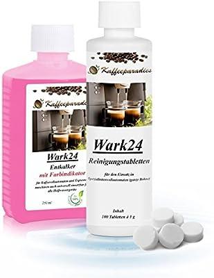 wark24 líquido descalcificador 250 ml & pastillas de limpieza 100 ...
