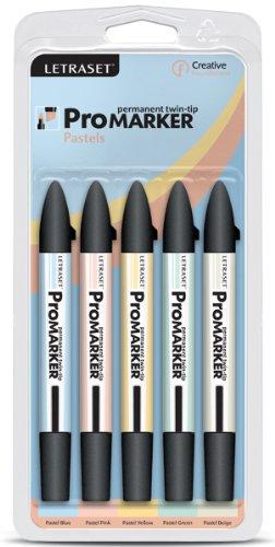 Letraset ProMarker Twin Tip 5/Pkg Pastels