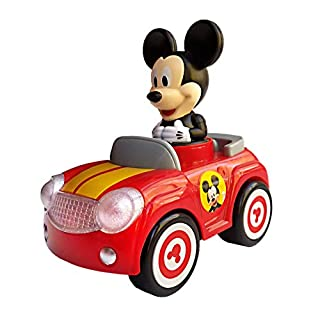 Disney Junior Mickey Mouse Clubhouse Push and Go Racer Car with Light and Sound for Toddlers, Boys and Girls, Red