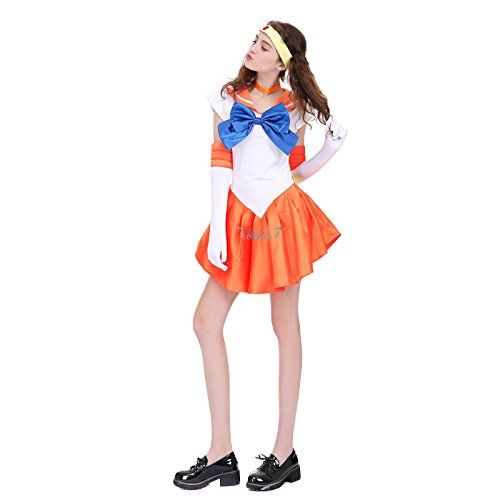 [Angelaicos Womens Color Block Bowknots Costume Dress (M, Yellow)] (Chibi Halloween Costume)