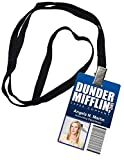 Angela Martin Dunder Mifflin Inc. Novelty ID Badge The Office Prop Costume