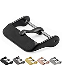 Replacement Buckle - Choice of Color & Width - Black 18mm - Vacuum PVD Finish
