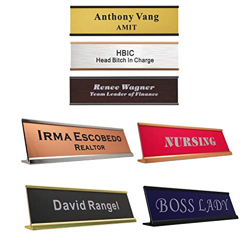 (Personalized Name Plate with Wall or Desk Holder 2