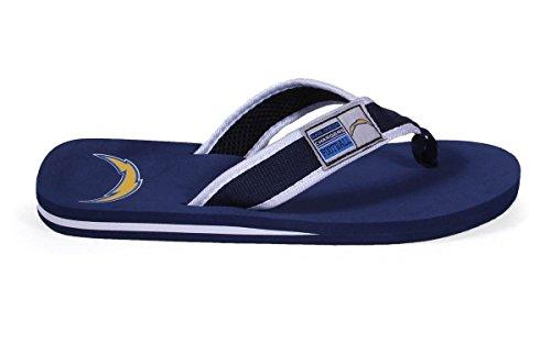 Voor Altijd Collectibles Officieel Gelicentieerde Nfl Contour Flip Flops - Blije Voeten En Comfortabele Voeten San Diego Laders