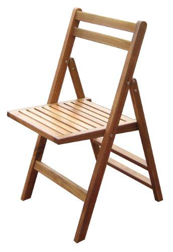 Merry Garden Acacia Folding Chairs (Set of 4)