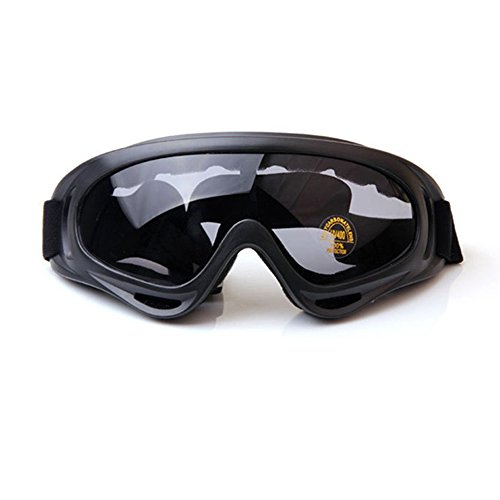 Used 4 Wheelers - 4-FQ Motorcycle Goggles, Dirt Bike Goggles Motorcycle Glasses Grip For Helmet,Adjustable UV Protective Windproof Dustproof Anti Fog Sunglasses for ATV Off Road Racing