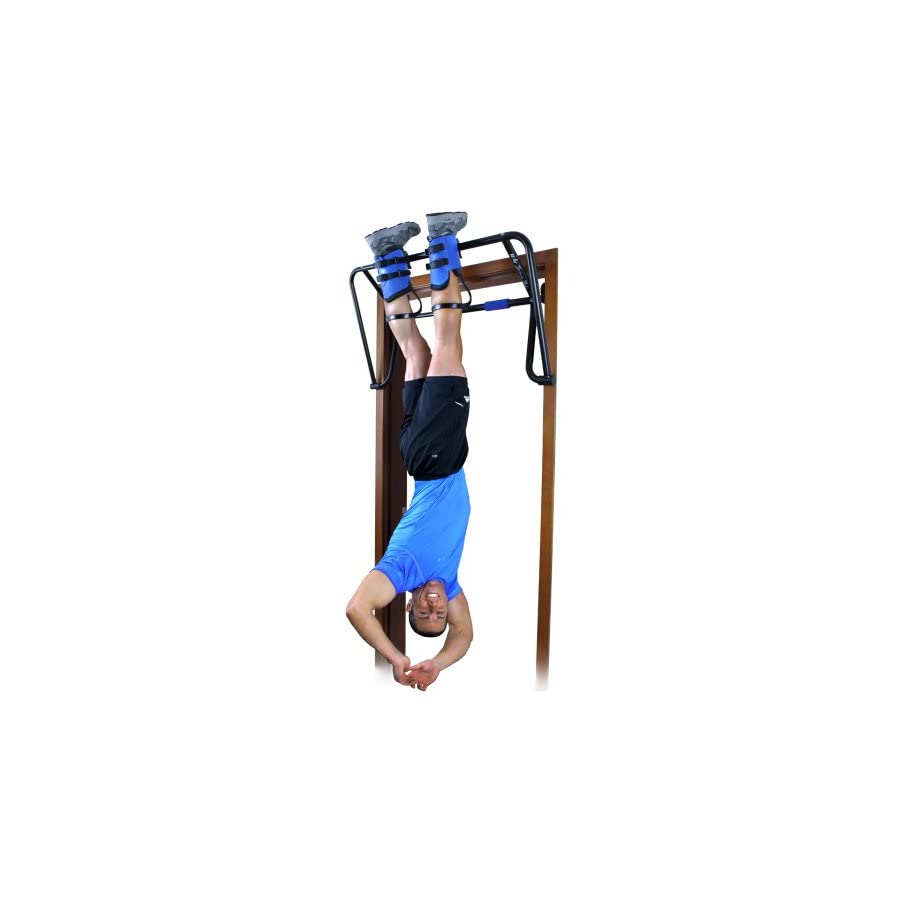Teeter E1 1056 Hang Ups EZ Up Inversion and Chin Up System with Rack, Gravity Boots and Healthy Back DVD