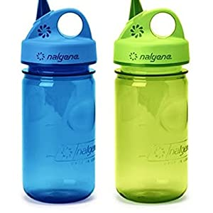 Nalgene Everyday Grip-N-Gulp Water Bottle for Kids Blue / Green Set
