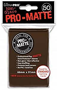 Ultra Pro 50ct Pro-Matte Brown Standard Deck Protectors