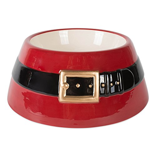DII CAMZ10691 Christmas Ceramic Pet Bowl for Food & Water for Dogs and Cats, 8