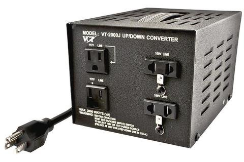 VCT VT-2000J - Japanese Step Up/Down Voltage Transformer Converts Japan 100 Volts To 110V OR Vice Versa - 2000 Watt