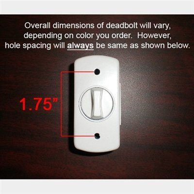 Storm Door Hardware Deadbolt Keylock - SANDSTONE-1 inch Thick Door by Home Products N' More (Image #2)