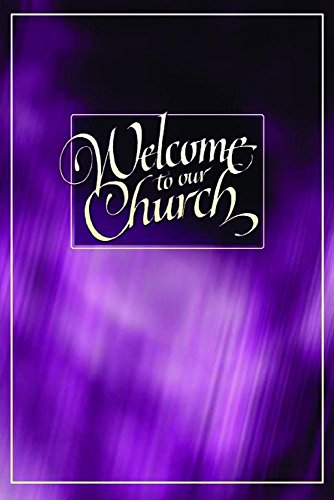 (Welcome Folder-Welcome To Our Church (Purple Desig)