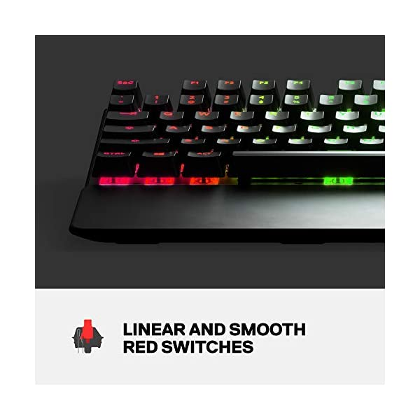 SteelSeries Apex 7 Mechanical Gaming Keyboard – OLED Smart Display – USB Passthrough and Media Controls – Linear and…
