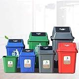 AINIYF Large Outdoor Trash Can,Plastic