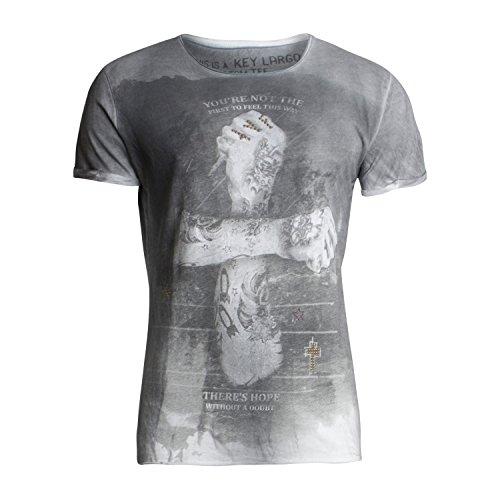 T-Shirt MT DOUBT für Herren - von Key Largo - Farbe Anthra - Outdoor - T-Shirt mit Fotoprint auf der Vorderseite - Frühling-Sommer 2017 - Casual Style