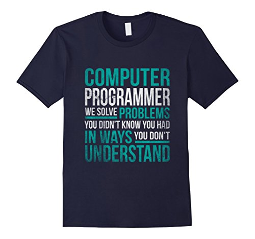 Men's Computer Programmer Job Definition Funny Programming Tshirt Large Navy