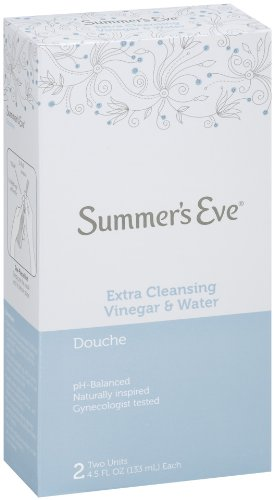 - Summer's Eve Douche | Vinegar & Water | 4.5 oz Size | Pack of 1 | pH Balanced, Dermatologist & Gynecologist Tested