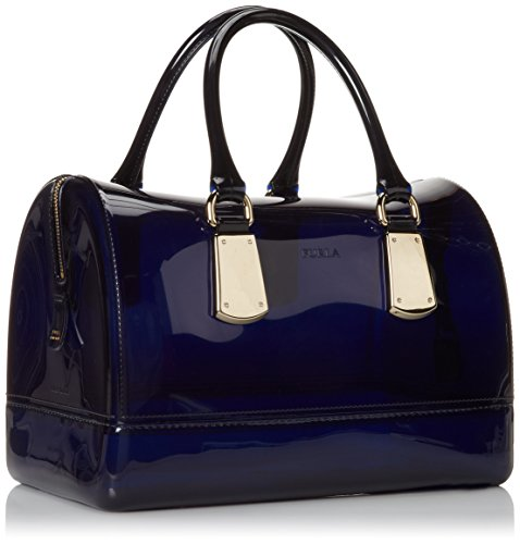 FURLA Candy Medium Satchel with Metal Hardware Top Handle ...