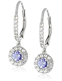 Created White Sapphire Dangle Earrings