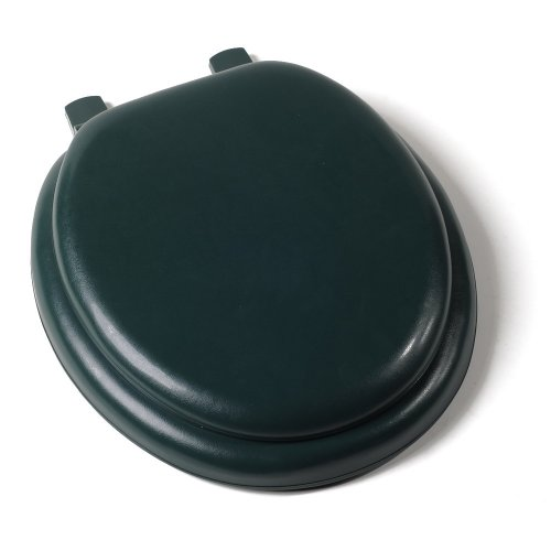Comfort Seats C1B5R2-60 Deluxe Soft Toilet Seat with Wood Cores, Round, Forest Green