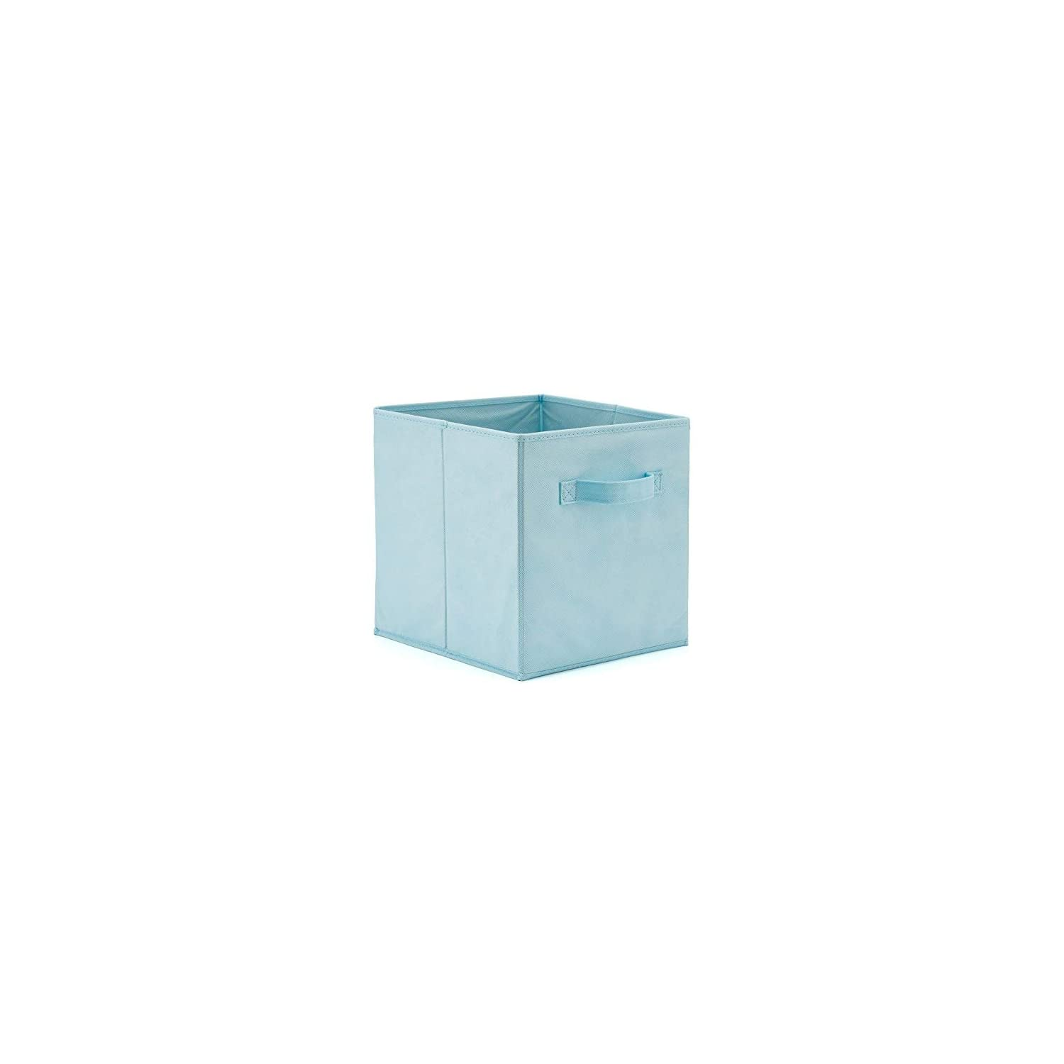 EZOWare Set of 4 Foldable Fabric Basket Bins, Collapsible Storage Cube for Nursery Home and Office (10.5X 10.5 x 11 inch) (Assorted Color)
