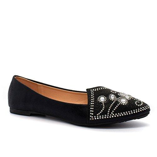 London Footwear - Ballet mujer Negro - negro
