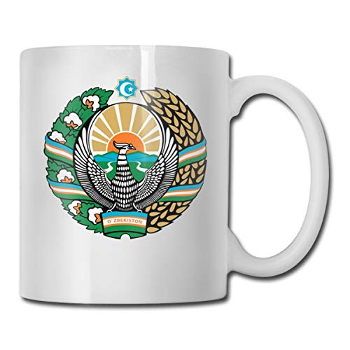 - Riizm-mug Funny Mug Cup Coat Of Arms Of Uzbekistan Coffee Cup 11-oz Coffee Cup