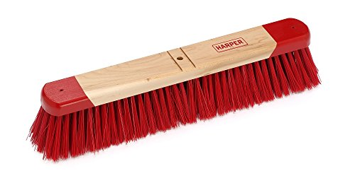 Harper Brush 731812 Broom Head, Polystyrene Fiber, All Purpose, Semi to Rough Wed or Dry Surface, Maple, 18'' (Pack of 6) by Harper Brush