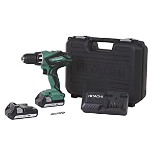 Hitachi DS18DGL 18-Volt Cordless Lithium-Ion 1/2 Inch Compact Drill Driver Kit (Lifetime Tool Warranty)