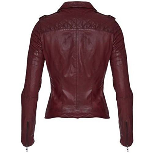 Leather Junction Red Donna Leather Junction Giacca wv75Pnx81x