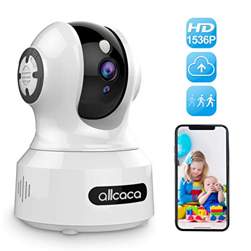 [Update] Baby Camera Monitor,allcaca 1536P Wireless IP Camera 3MP Smart Security Camera Pet Camera with Night Vision Motion Detection Remote Control Pan/Tilt/Zoom 2-Way Audio for Baby/Pet/Elder