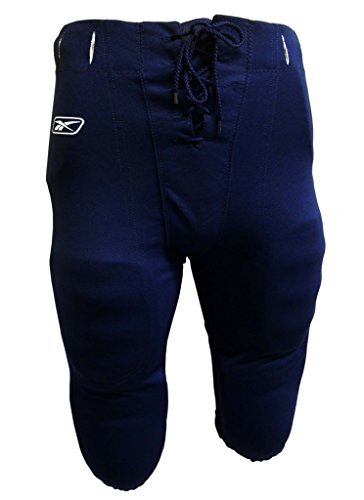 Reebok Polyester Pique Adult Slotted Football Pants (M, Navy)