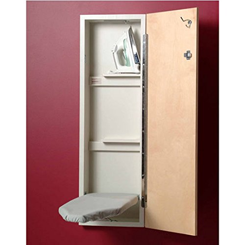 Iron-A-Way NE-342 42 inch built in wall mounted ironing Center with White Flat Door, Non Electrical by Iron-a-Way