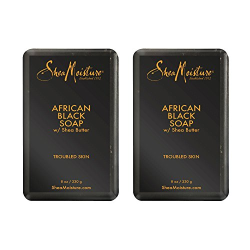 Butter Shea African Black Soap (Shea Moisture African Black Soap With Shea Butter 8 oz (Pack of 2))