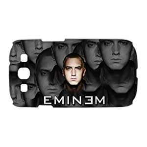 3D Print Pop Star Eminem&Slim Shady Theme Case Cover for Samsung Galaxy S3 I9300- Personalized Hard Cell Phone Back Protective Case Shell-Perfect as gift