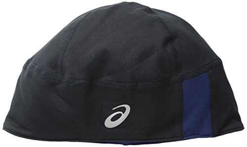 l 2-N-1 Beanie, One Size, Black/Indigo Blue ()