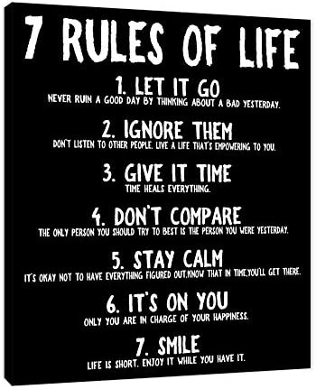 Rules Life Motivational Art Gallery product image