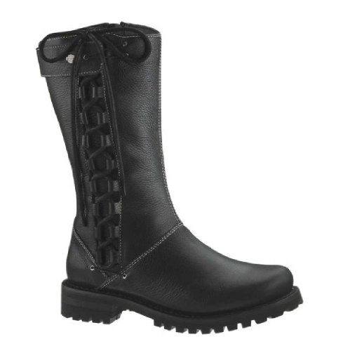 Wolverine Lace Boots - Harley-Davidson Women's Melia Welted 10-Inch Motorcycle Boots, Side Lace D85054